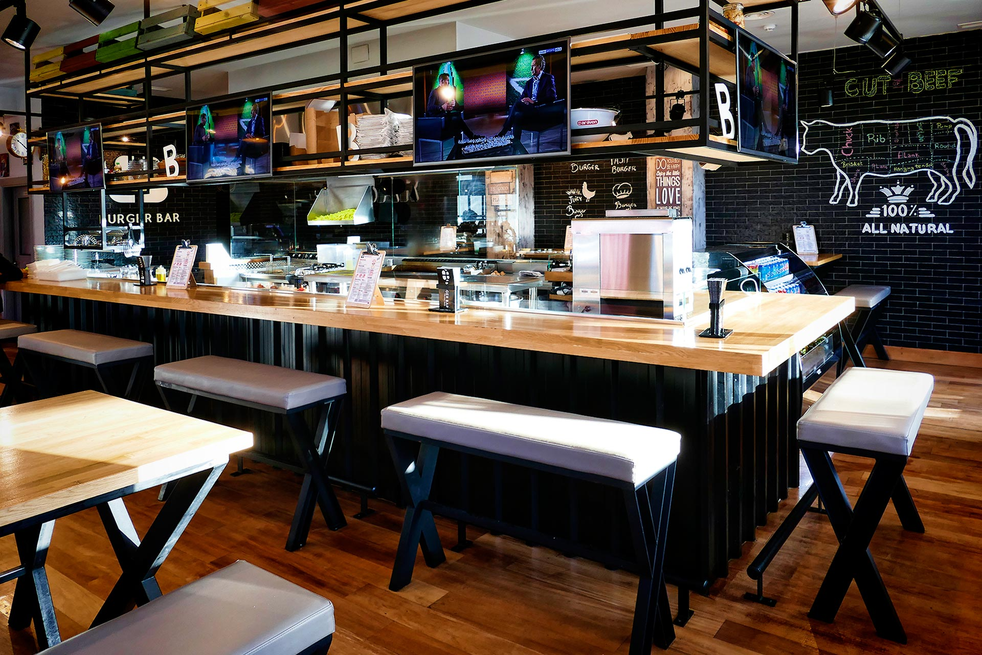 Restaurante Burger, Puerto Banus | Grupo Diezma Marbella